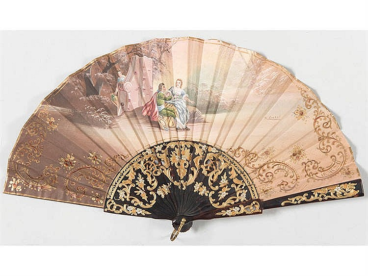 A SPANISH HAND FAN, LATE 19TH/EARLY 20TH CENTURY