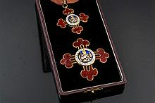 SILVER AND ENAMEL MEDALS