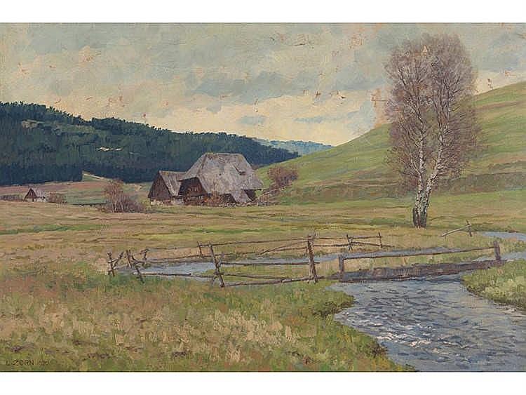 LUDWIG ZORN (1865-1921) Paisaje de la selva negra