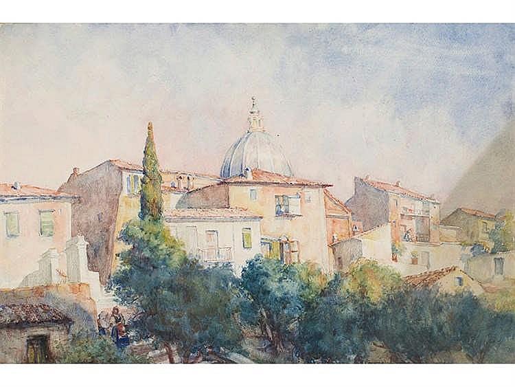 EUGENIO LAFUENTE (Málaga,1890-Madrid,1947) Paisaje napolitano