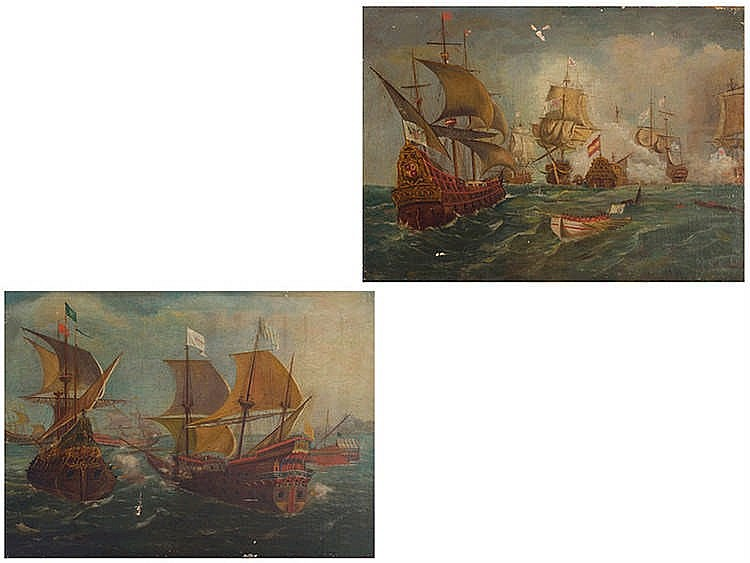 FOLLOWING DUTCH MODELS OF 19TH CENTURY Naval Battles