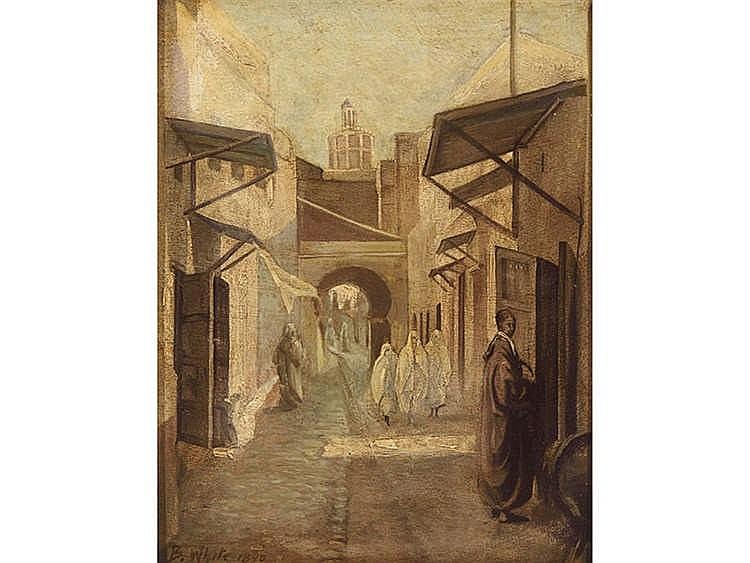 B.WHITE (19th Century, English School) Arabian Souq