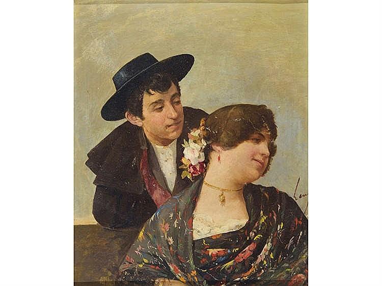 HORACIO LENGO (1834 - 1890) Coqueteo