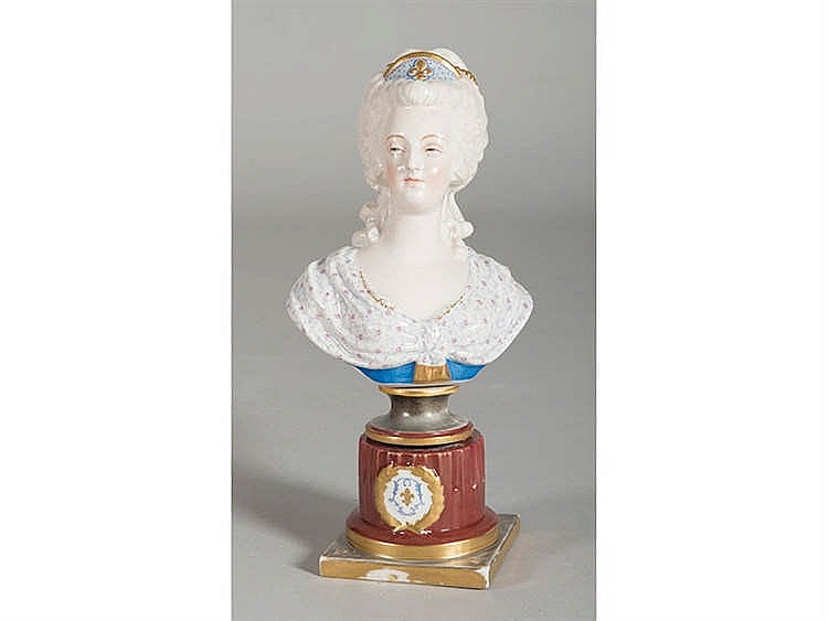 A FRENCH PORCELAIN FEMALE BUST, 19TH CENTURY