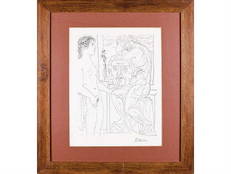 PABLO RUIZ PICASSO (Malaga, 1881- Mougins, France, 1973) Nude modeland Scultures, 1933.