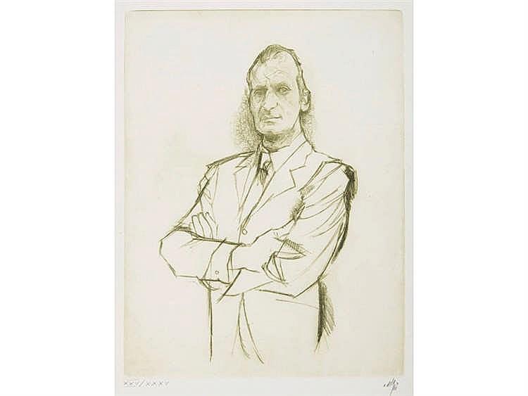 ALVARO DELGADO (Madrid, 1922 - 2016) Retrato del Rey Juan Carlos