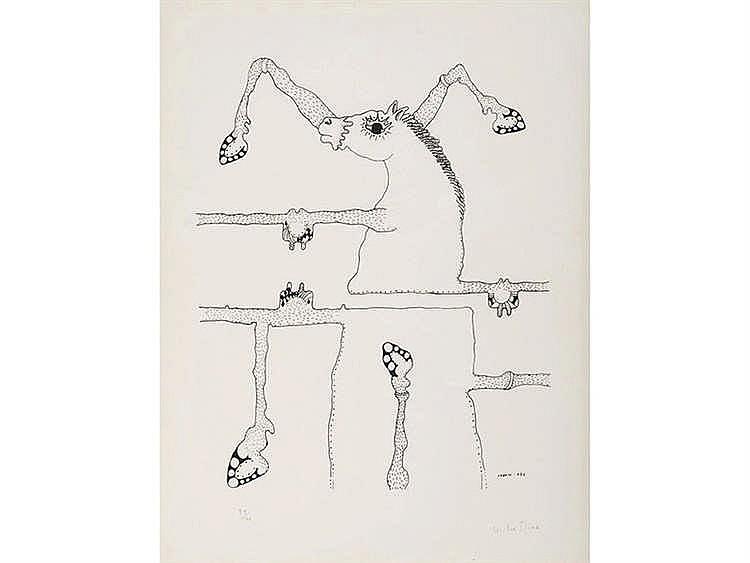 VICTOR MIRA (Zaragoza, 1949- Munich, 2003) Composición surrealista con caballo