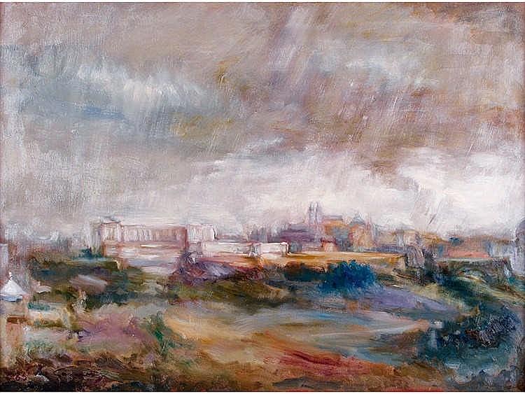 ANTONIO GOMEZ MARTIN (Madrid, 1949) Vista de Madrid