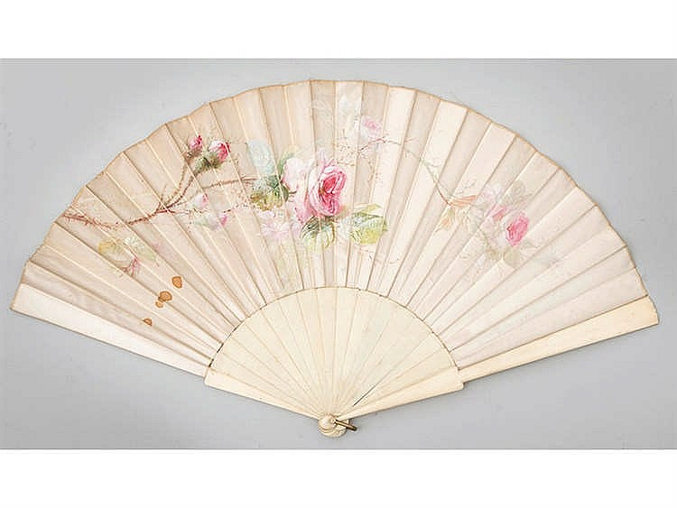 A PARROT HAND FAN, LATE 19TH CENTURY