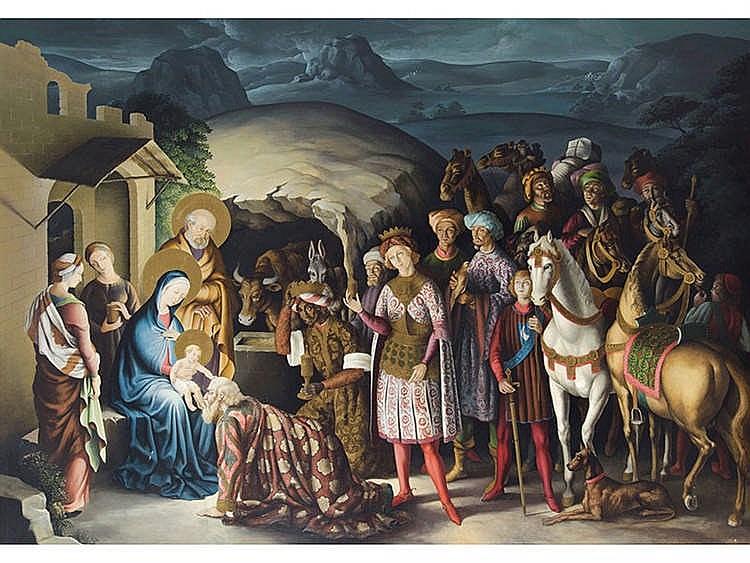 JULIO CASILDA (Contemporary Spanish School) Adoration of the Magi