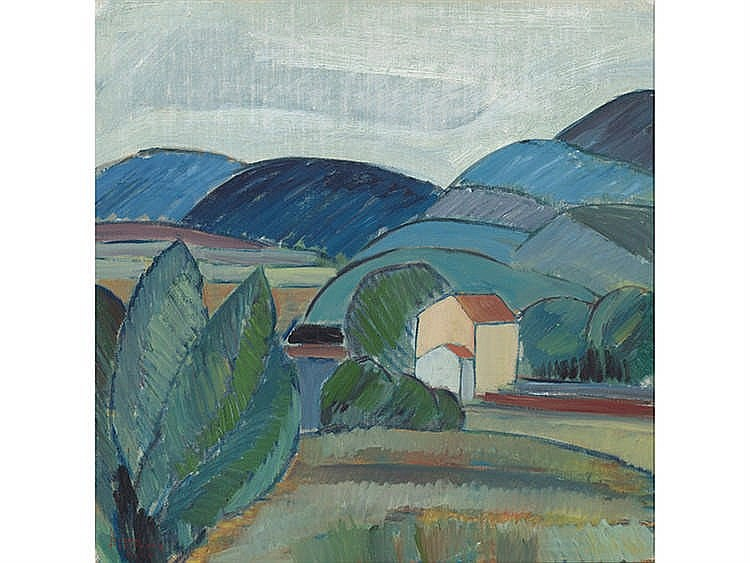 BRUNO FORSSBERG (1914-1998) Cubist landscape