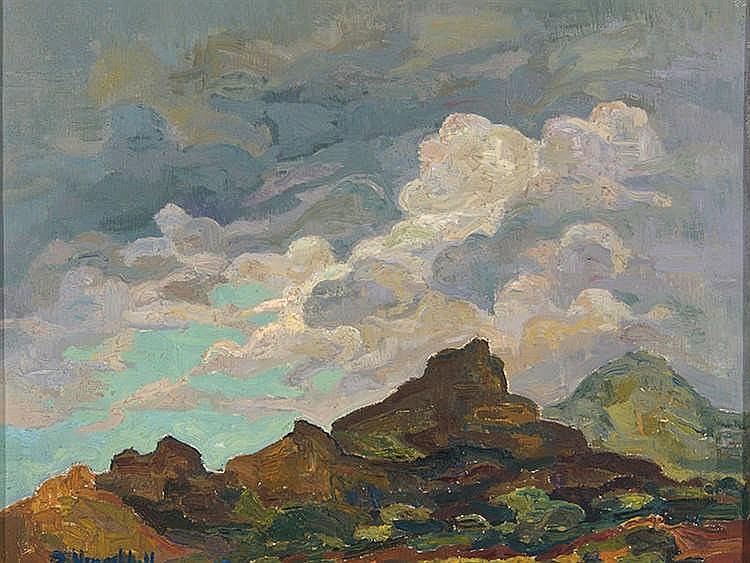JOAN VIVES LLULL (1901-1982) Montañas y nubes