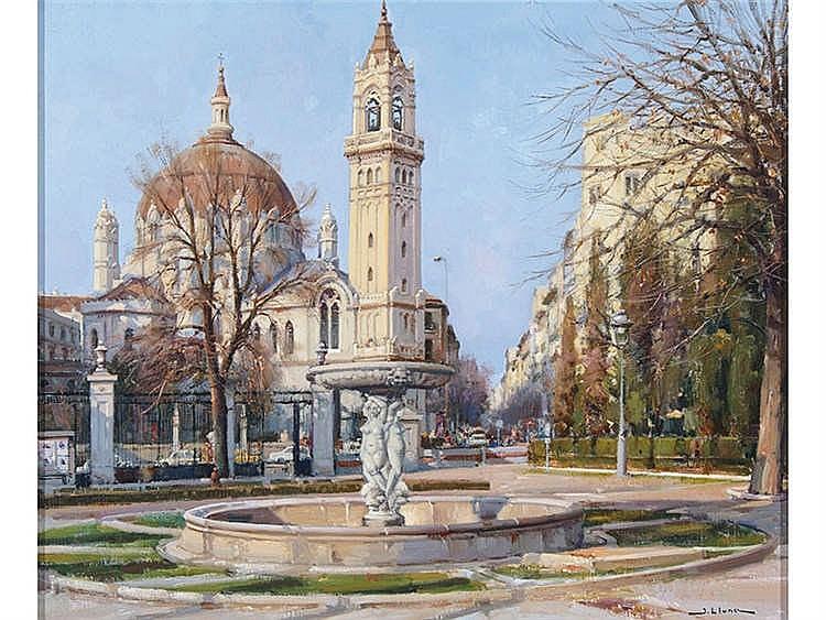 JUAN LLUNA (Lerma, 1933) Iglesia de San Manuel y San Benito