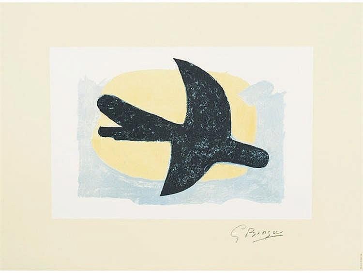 GEORGE BRAQUE (Argenteuil, 1881- Paris, 1963) Oiseau bleu et jaune