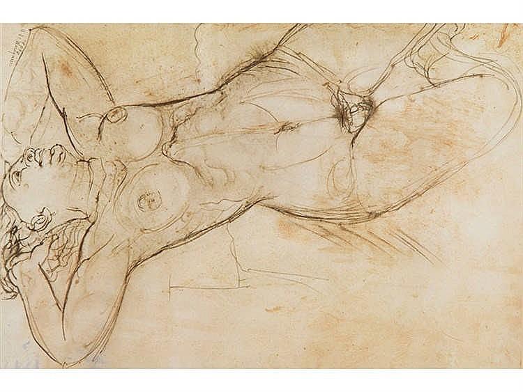 HENRI DE WAROQUIER (Paris 1881 - 1970) Female Nude