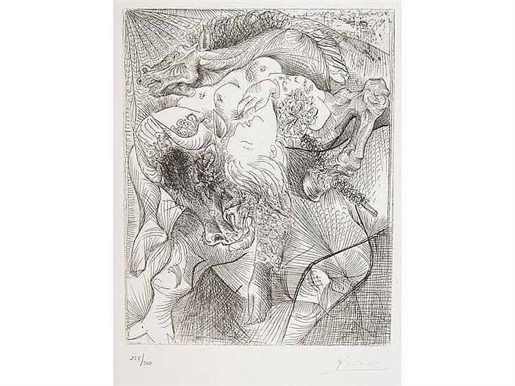 PABLO RUIZ PICASSO (Malaga, 1881-Mougins, 1973) Marie-Thérèse en Femme Torero