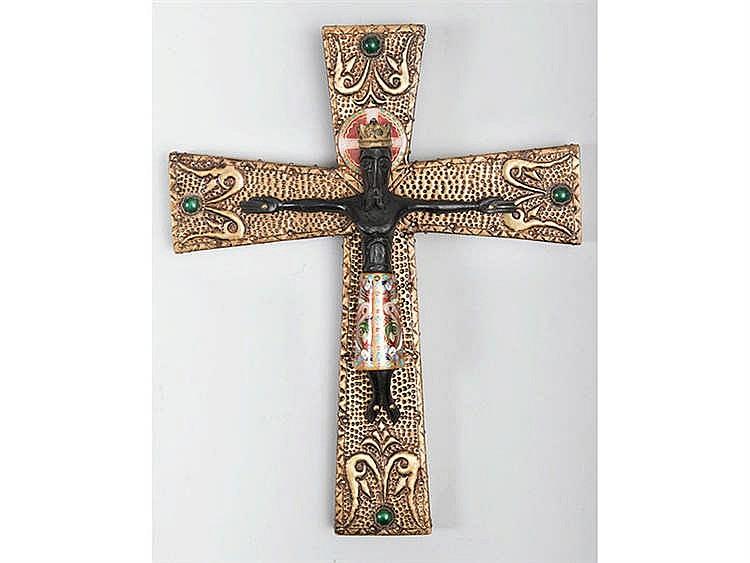 LUIS GARCIA HUERTAS (Salamanca, 20th Century) Christ Crucified