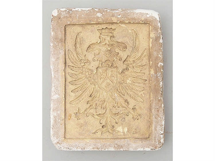 A MOLD WITH SPANISH DOUBLE-HEADED EAGLE SHIELD