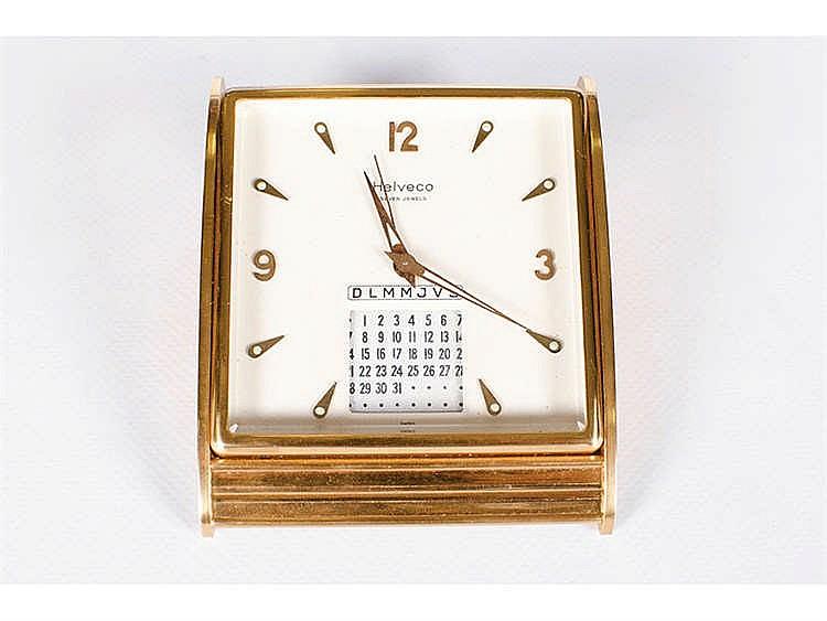 A SWISS DESK CLOCK, CIRCA 1950
