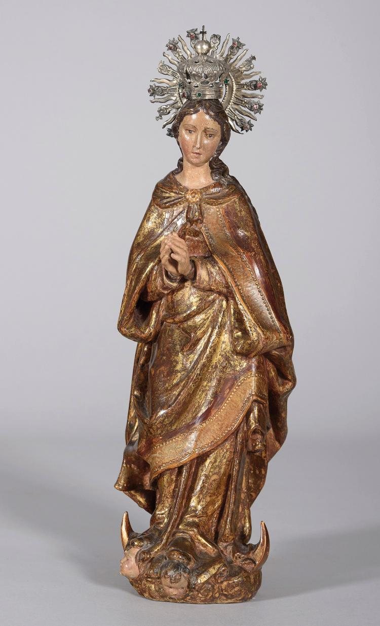 SPANISH SCHOOL, 17th C. Virgen Inmaculada