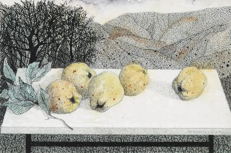 JOSE HERNANDEZ QUERO (Granada, 1930) Bodegon de membrillos