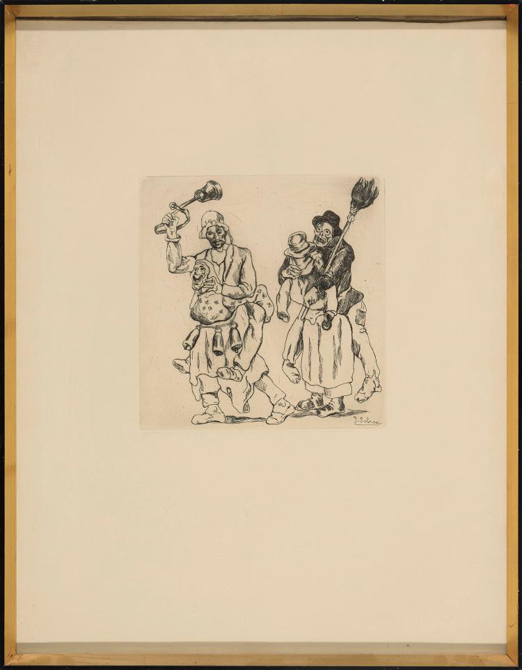 JOSE GUTIERREZ SOLANA (Madrid 1886-1945) Mascaras de los cencerros