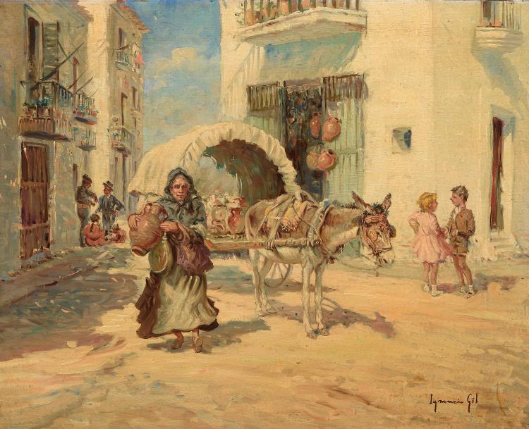 IGNACIO GIL (Barcelona 1913-2003) Escenas populares