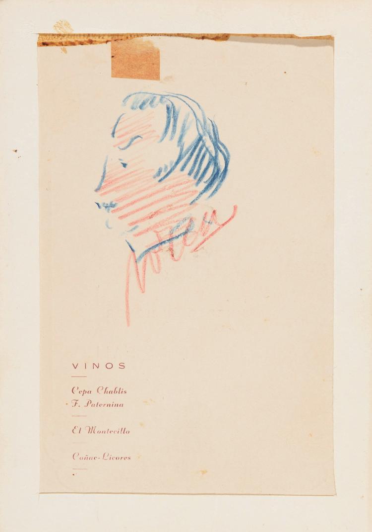SALVADOR DALI (Figueras, Gerona, 1904-1989) Autorretrato de perfil
