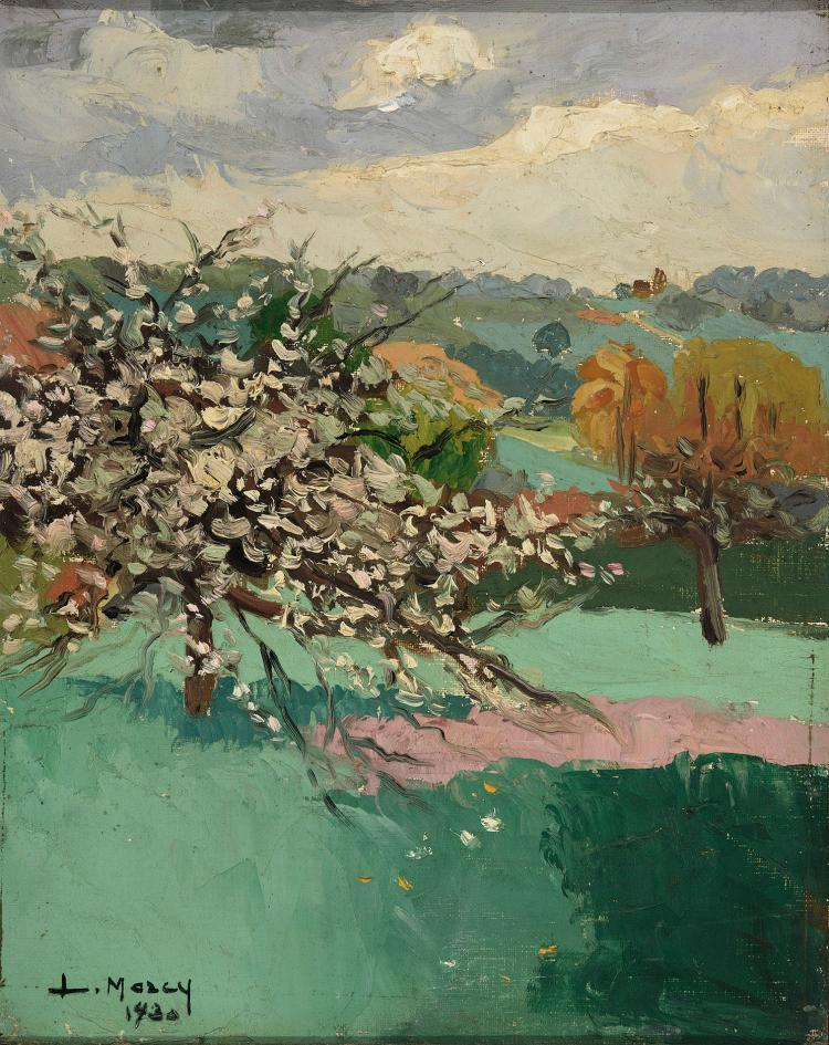 L. MARCY (FRENCH SCHOOL, EARLY 20th C.) Paisaje