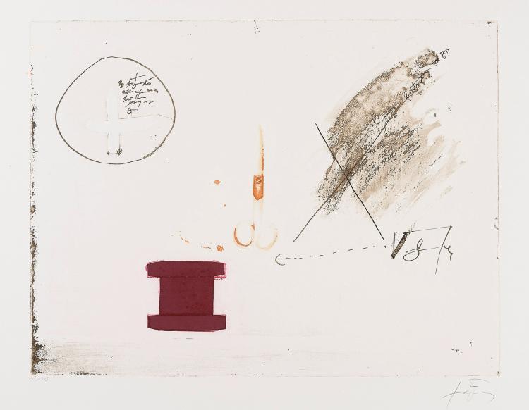 ANTONI TAPIES (Barcelona, 1923-2012) Llul-Tapies. 1985