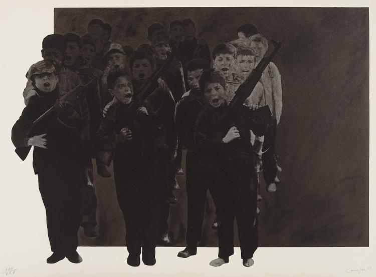 RAFAEL CANOGAR (Toledo, 1935) El juego de la guerra. 1972
