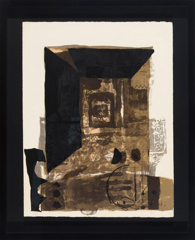 ANTONI CLAVÉ (Barcelona, 1913 - Saint-Tropez, Francia, 2005 ) Cadre Noir. 1965
