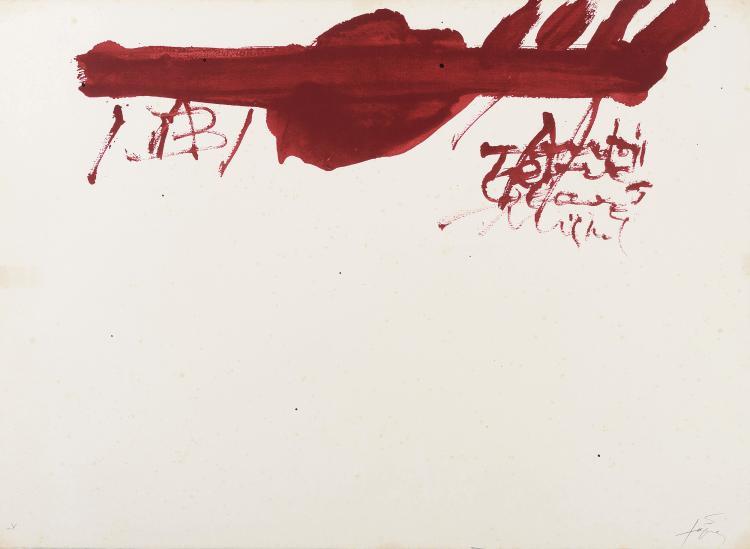 ANTONI TAPIES (Barcelona, 1923-2012) La clau del foc XIII. 1973.