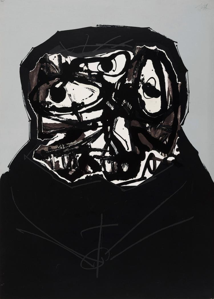 ANTONIO SAURA (Huesca, 1930-Cuenca, 1998) Â la mort de sa mère.1973