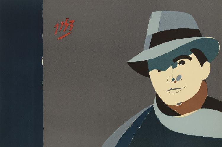 EDUARDO ARROYO (Madrid, 1937) Transfer des cendres de Jean Moulin au Pantheon. 1984