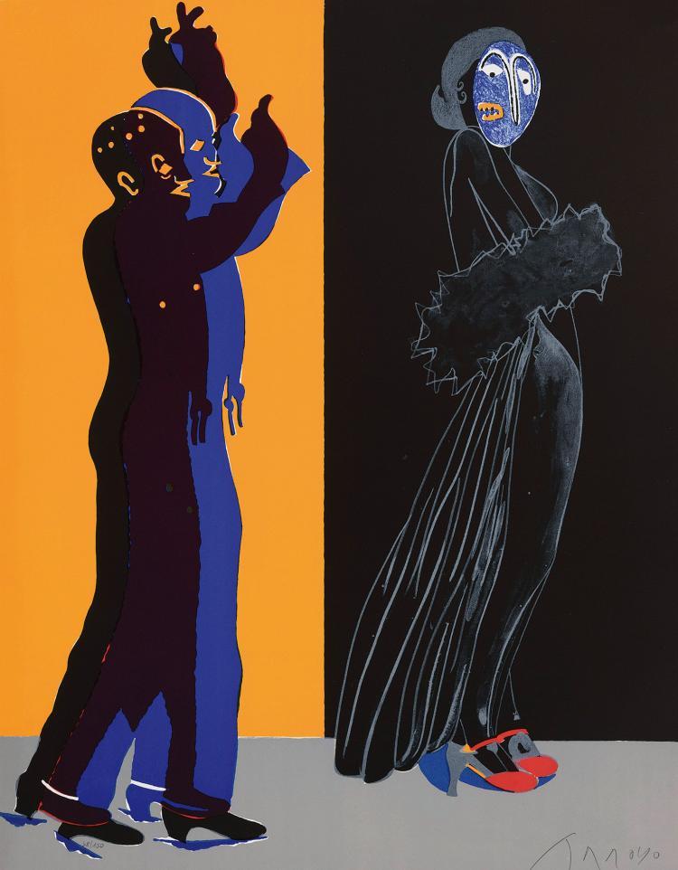 EDUARDO ARROYO (Madrid, 1937) La noche española. 1986
