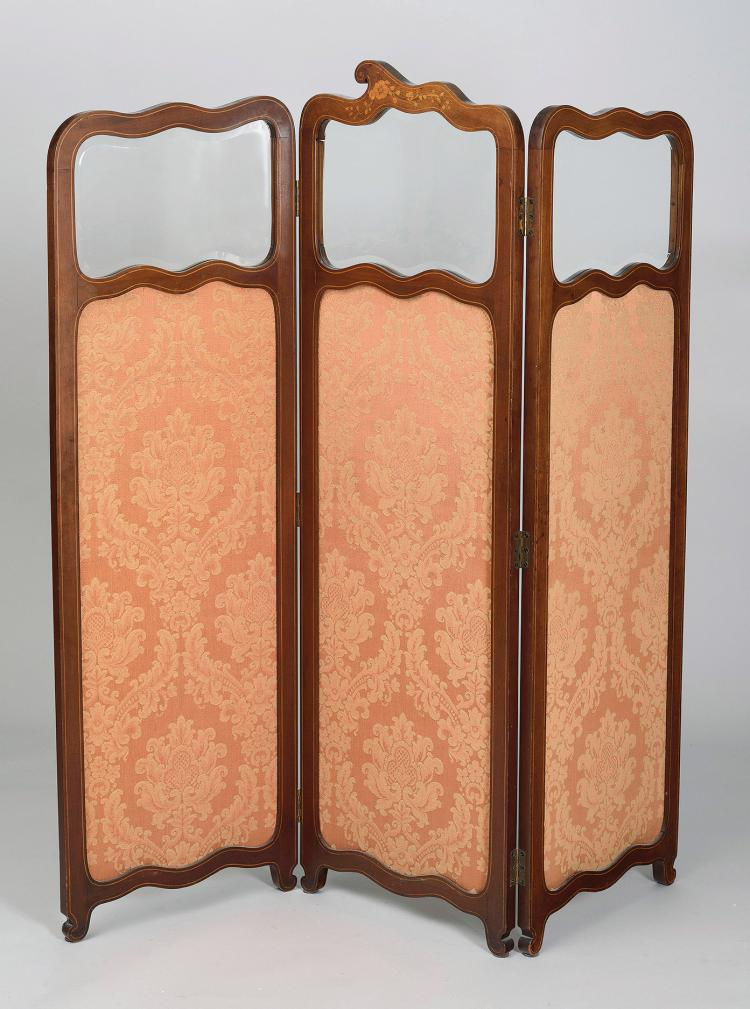FRENCH FOLDING SCREEN, EARLY 20th C.