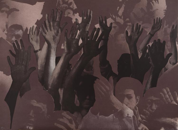 RAFAEL CANOGAR (Toledo, 1935) La manifestación. 1972