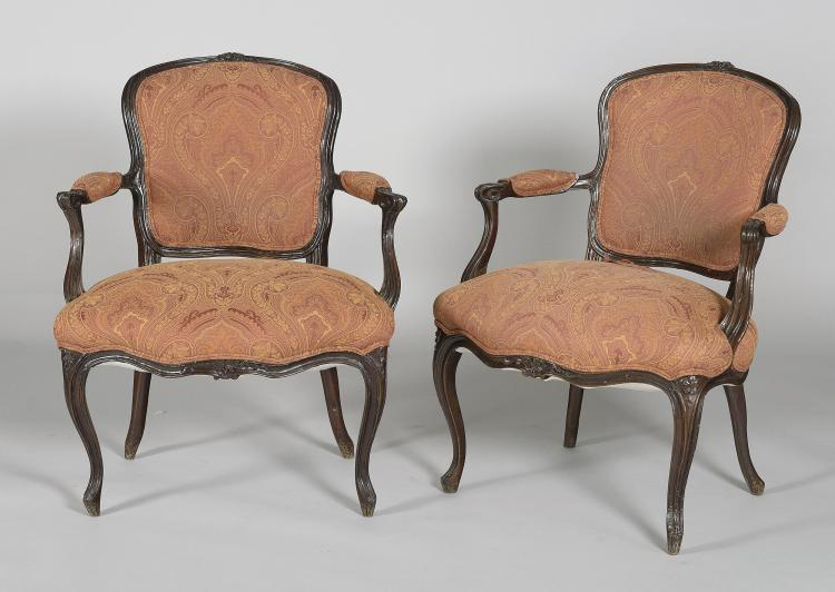 COUPLE OF PROVENCAL CHAIRS, FRANCE 18th C.