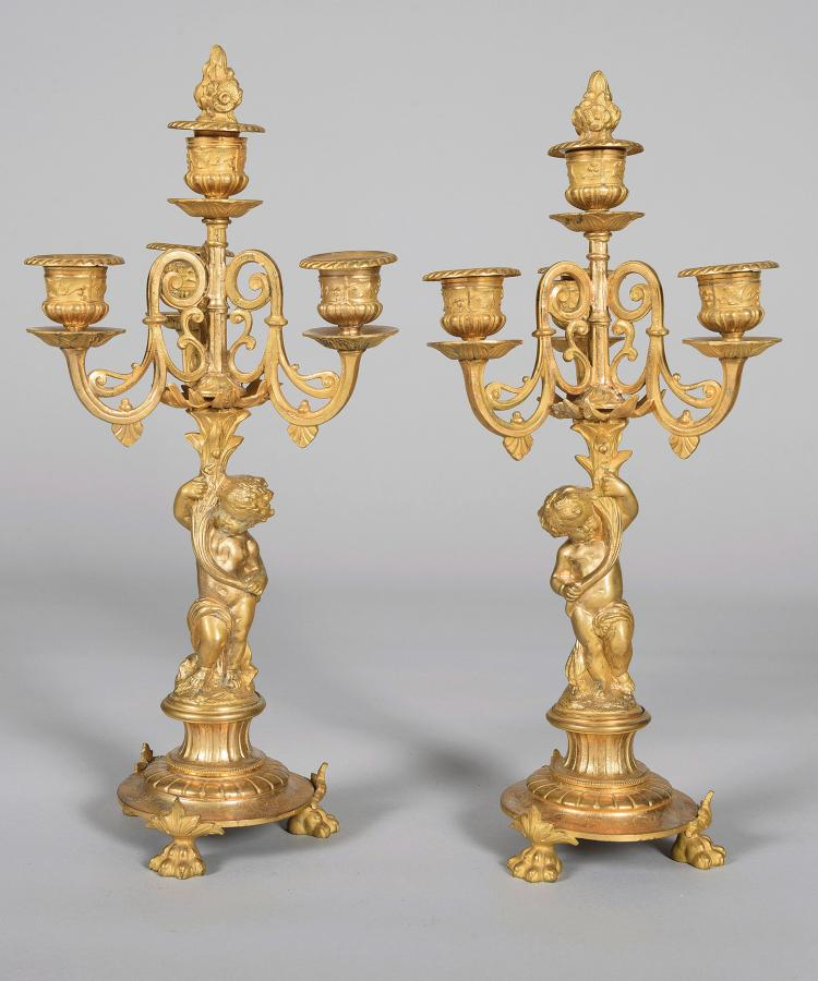 FRENCH CHANDELIERS LUIS XV, 19th C.