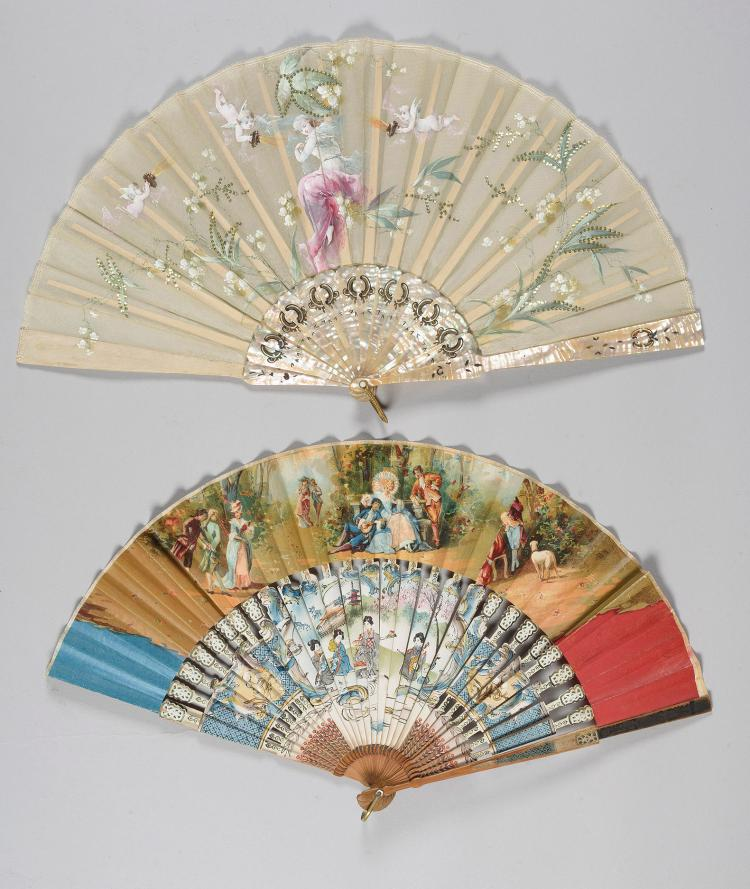 TWO SPANISH FANS, EARLY 20th C.