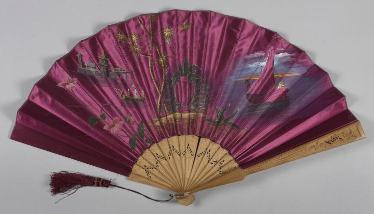 SPANISH FAN, 20th C.