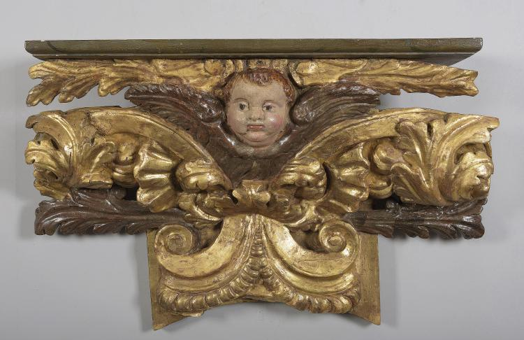 FRAGMENT OF ALTARPIECE, SPAIN, 18th C.