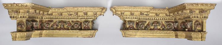 COUPLE OF CORBELS, 18th C.