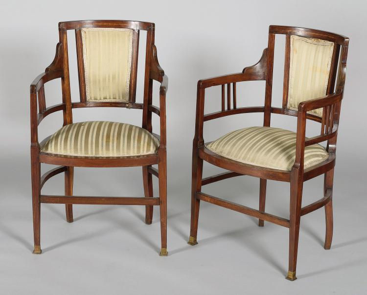 COUPLE OF EDWARDS CHAIRS, 19th CENTURY