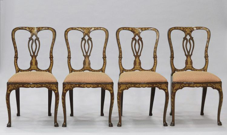 FOUR ITALIAN STYLE CHAIRS