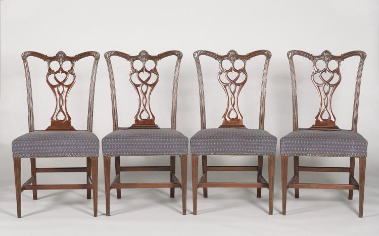 CHIPPENDALE STYLE CHAIRS