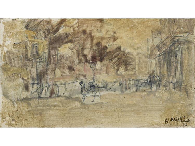 GUILLERMO VARGAS RUIZ (Bollullos de la Mitacin,Sevilla,1910) - Paisaje