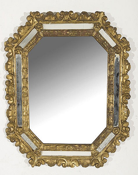 A wood spanish baroque mirror 17th century for 17th century mirrors