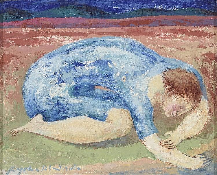 BEGOÑA IZQUIERDO (Bilbao, 1926-Madrid, 1999) Mujer buscando algo